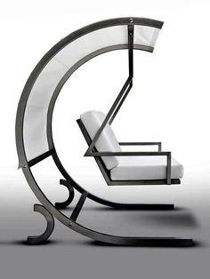18 modern garden swing design for garden and terrace Welded Furniture, Iron Furniture, Steel Furniture, Industrial Furniture, Furniture Design, Garden Swing Seat, Hammock Swing Chair, Swinging Chair, Swing Design
