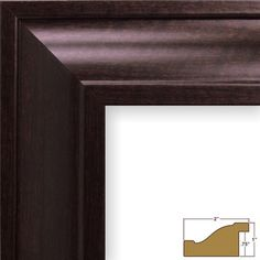 "Craig Frames Inc. 2"" Wide Smooth Picture Frame Color: Brazilian Walnut Brown, Size: 16"" x 22"""