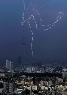 Lightning hit Tokyo Skytree
