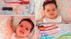 O segredo dos laços para prender cabelos finos de bebês - dia a dia de mamãe…