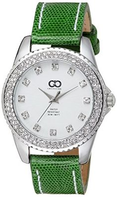 Gio Collection Analog White Dial Women's Watch – AD-0058-D