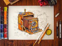 Camera #Illustration Design