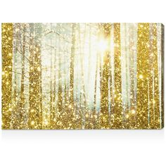 "Oliver Gal Magical Forest Wall Art, 15"" x 10"" ($199) ❤ liked on Polyvore featuring home, home decor, wall art, art, backgrounds, images, gold, gold home accessories, forest wall art and home wall decor"