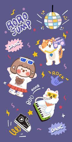 Retro Wallpaper Iphone, Cute Pastel Wallpaper, Kawaii Wallpaper, Disney Wallpaper, More Wallpaper, Best Quotes Wallpapers, Cute Cartoon Wallpapers, Sad Art, Journal Stickers