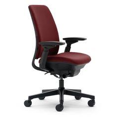 Steelcase Amia Fabric Chair, Burgundy |