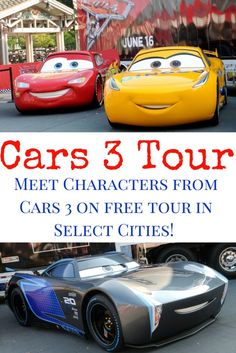 Come Check If The FREE Road To Races Cars 3 Tour Is Coming Your