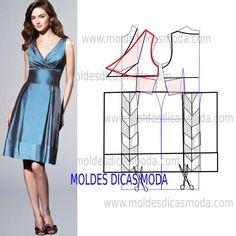 A proposta de hoje do molde vestido azul tem como objectivo responder a mais um pedido de uma seguidora que há algum tempo anseia por este modelo. Analise