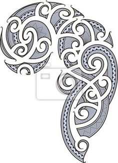 Wall Mural maori tattoo design - maori - art • PIXERSIZE.com.....maybe I can paint a maori design on my wall?