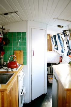 Whistles Women: We step aboard the canal boat home of London based photographer Retts Wood.