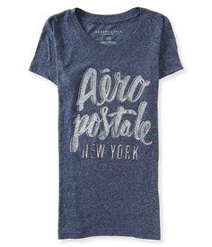 ad28df7cb Camiseta feminina da Aeropostale com linda estampa na parte da frente da  peça. Estampa com