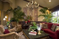 West Indies tropical design, traditional living room