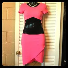 Top & Skirt Set NWT / never worn / fitted crop top with cap sleeves / fitted asymmetrical midi skirt / fun texture with stretchy lace detail in front of both pieces / sold as set only LaKadore Skirts Skirt Sets