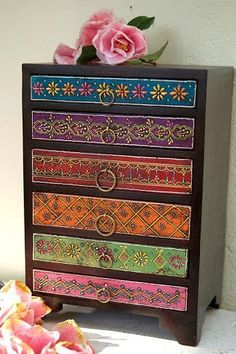 Jun 2019 - Bohemian Furniture and Boho Decor. Featuring Eclectic Boho Chic Decor and Hippy and Gypsy Style Furniture too! See more ideas about Decor, Boho decor and Bohemian furniture. Decor, Chest Of Draws, Storage Design, Funky Furniture, Bohemian Decor, Home Decor, Marrakesh Style, Bedroom Decor, Furniture Makeover