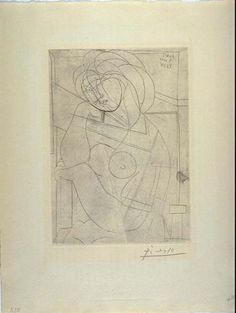 Pablo Picasso, Seated female nude (neoclassicist and surrealist period) Pablo Picasso, Picasso Sketches, Picasso Portraits, Cubist Movement, Cubism Art, Guernica, Art Walk, European Paintings, Post Impressionism