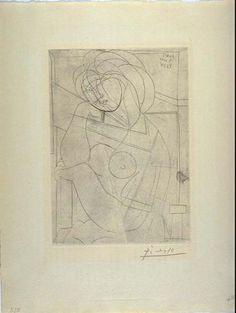 Pablo Picasso, Seated female nude (neoclassicist and surrealist period) Pablo Picasso, Picasso Sketches, Picasso Portraits, Cubist Movement, Cubism Art, Guernica, Spanish Painters, Art Walk, European Paintings