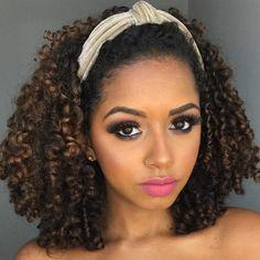 Perm, Mariah Bernardes, Headbands, Curly Hair Styles, Fashion Beauty, Hair Cuts, Makeup, Hairstyles, Short Curly Hair