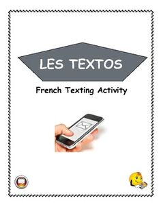 Teach parts of speech and sentence structure in your French classroom using texting. French Language Lessons, French Language Learning, French Lessons, French Teaching Resources, Teaching French, Teaching Materials, Teaching Tools, High School French, Teacher Problems