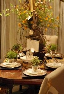 Spring Table setting #spring #nellhills #entertaining with nellhillsblog.com