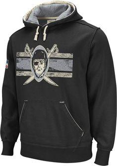 Reebok Oakland Raiders Black Classic Throwback Hooded Sweatshirt $59.95