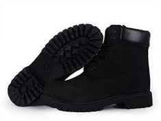 all black timberlands womens