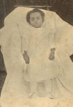 Post Mortem African American Young Girl Rockwood Tennessee Cabinet Photo
