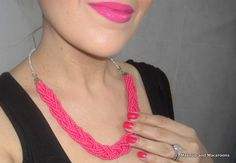 DIY Braided Bead Necklace |Makeup and Macaroons