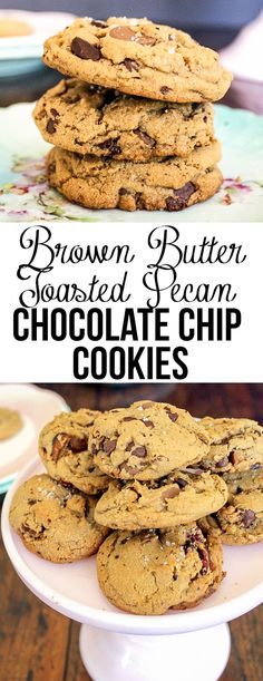 These Browned Butter Pecan Chocolate Chip Cookies are a twist on a chocolate chip cookie. The browned butter and pecans make these cookies extra delicious!