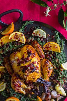 Naz Deravian's Orange Blossom, Saffron, and Yogurt Roast Chicken | @teamyogurt