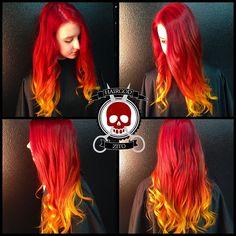 # hairgod_zito http://instagram.com/hairgod_zito Fire ombre