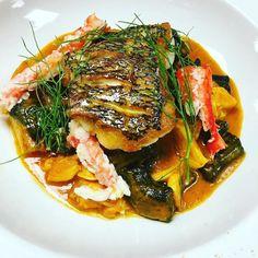 #Repost @chefrylo88  Locally caught black bass Alaskan king crab squid ink mezza rigatoni fennel in a spicy tomato and olive brodo #blackbass #king #crab #pasta #rigatoni #eeeeeats  #thestaffcanteen #michelin #truecooks #expertfoods  #beautifulcuisines #theartofplating #wildchefs #nyc #chef #cheflife #chefsroll #chefstalk #ChefsOfInstagram #food #foodie #foodgasm #foodporn #instachef #foodstarz #truecooks #gastroart #gastronogram #zagat by culinarychefsportal