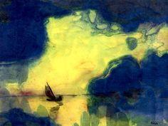 The Sea at Dusk, Emil Nolde