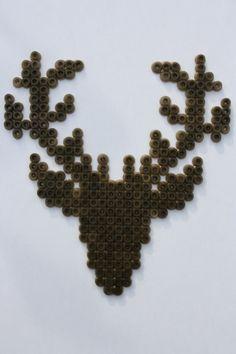 Deer hama beads made by Halina - Marike Grijpink