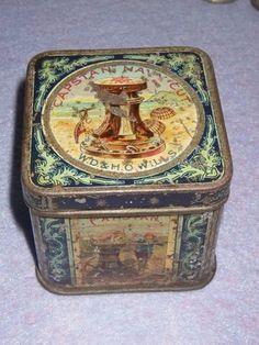 ORIGINAL really old CAPSTON tobacco SMALL tin box | #278751098