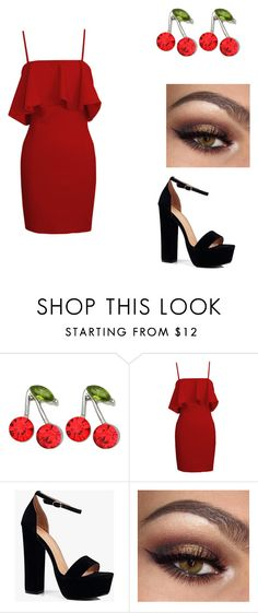 """""""Untitled #457"""" by markovickristina ❤ liked on Polyvore featuring Kate Marie and Boohoo"""