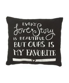 Cuddle up with this delightfully cozy pillow that will add charm and romance to any room. With playful words standing out against a simple white background, it's a perfect conversation starter for tales of true love. #zulily