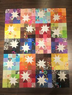 Ariane Quilts: My 16-patch star quilt progress!                                                                                                                                                                                 More