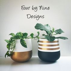 Browse unique items from Fourbynine on Etsy, a global marketplace of handmade, vintage and creative goods. Browse unique items from Fourbynine on Etsy, a global marketplace of handmade, vintage and creative goods. Painted Plant Pots, Painted Flower Pots, Concrete Pots, Concrete Crafts, Decorated Flower Pots, Diy Planters, Pottery Painting, Terracotta Pots, Plant Decor
