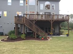 Landscaping ideas for around deck and basement walk-out.