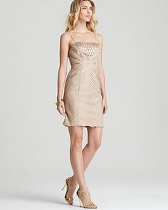 Sue Wong Beaded Dress - Spaghetti Strap -loooove the color and the detail on this