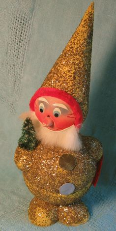 Vintage Christmas German Gold Santa Nodder Candy Container by VintageJewelsAndMore on Etsy https://www.etsy.com/listing/82105840/vintage-christmas-german-gold-santa