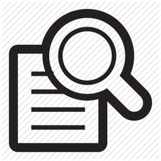 document, examine, find, magnify, search, zoom icon