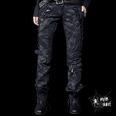 Pantalon Punk Rave 'Apocalyptic Cargo'