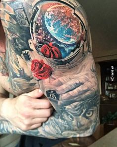 Image result for astronaut tattoo