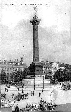 Paris en 1900 - Place de la Bastille
