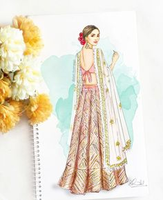 Dress Design Drawing, Dress Design Sketches, Fashion Design Sketchbook, Fashion Design Drawings, Dress Drawing, Fashion Sketches, Art Sketchbook, Dress Designs, Art Sketches