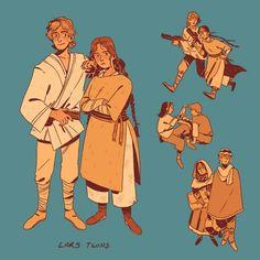 Skywalker twins raised by lars