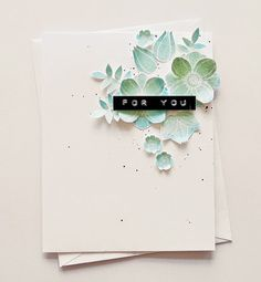 ♥: for you by Aga Paper Succulents, Altenew Cards, Scrapbook Cards, Scrapbooking, Wedding Anniversary Cards, Flower Doodles, Beautiful Handmade Cards, Card Making Techniques, Card Tags