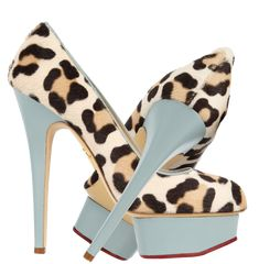 Charlotte Olympia leopard print Polly calf hair and leather pumps - http://womenspin.com/shoes/charlotte-olympia-leopard-print-polly-calf-hair-and-leather-pumps/