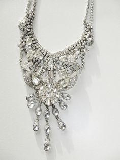 Stunning Wedding bridal necklace Art Deco by ClaudiaMyersDesigns