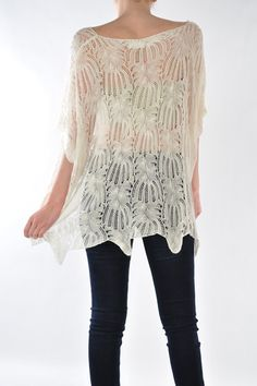 Ivory Crochet Tunic | Emma Stine Jewelry Necklaces